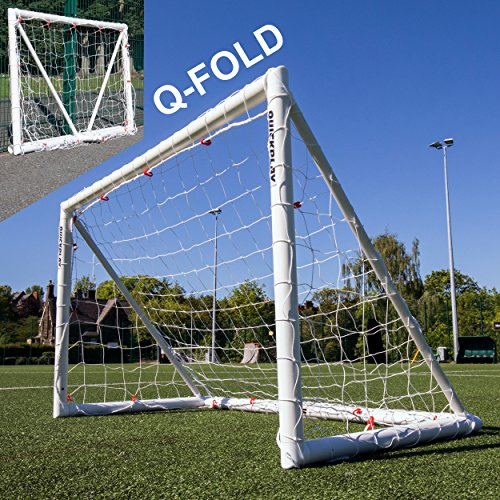 QUICKPLAY Q-Fold 6x4ft | The 30 Second Folding Football Goal for the Garden [Single Goal] The Best Weatherproof Football Net for Kids and Adults – 2YR WARRANTY