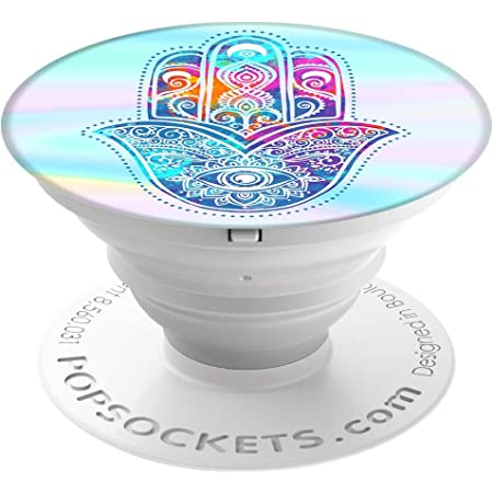 Popsockets Ausziehbarer Nicht Austauschbarer Sockel Und Griff Für Smartphone Und Tablet Hippie Hamsa Elektronik