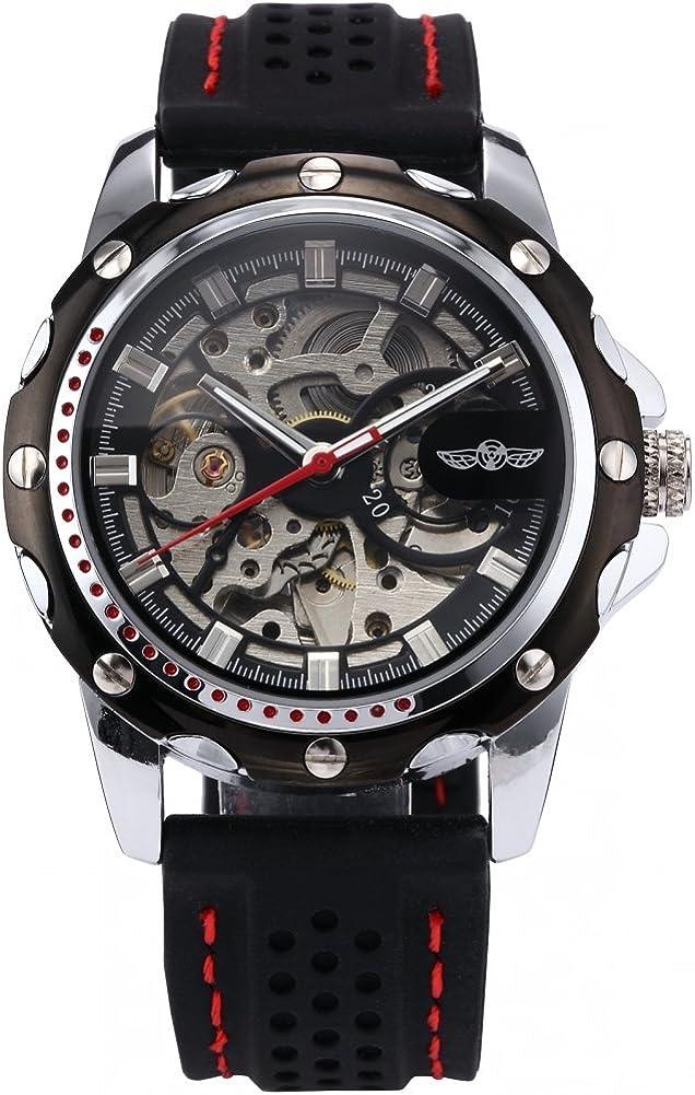 Men's Wrist 25% OFF Watch Automatic Sport lowest price Skeleton Self-Wind Mechanical
