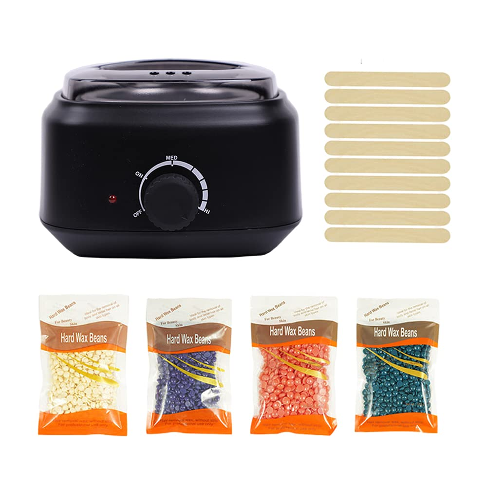 Waxing Kit Lyrzzey Wax Warmer Hair Colorful Max 68% OFF 4 Removal w packs free