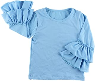 Wennikids Little Girls' Long-Sleeve Ruffle T-Shirt