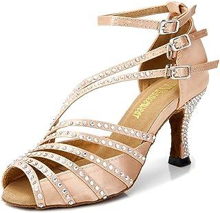 TTdancewear Rhinestone Latin Salsa Performance Dance Shoes Dancing Shoes Ballroom Dance Shoes Women