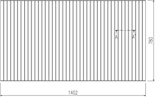 LIXIL INAX 風呂巻フタ 幅1,402×奥行780mm:BLS78139-K (風呂ふた、フロふた、風呂蓋)