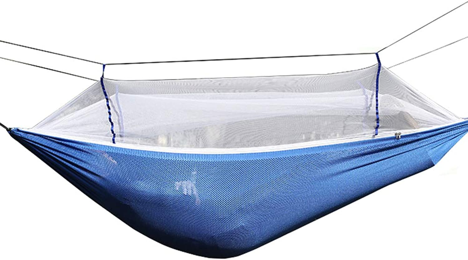 Camping Hammock with Mosquito Net, Portable Encryption Mesh Double Parachute, Outdoor Swing Bed, Storage Bag, Hiking Max.Load of 200kg