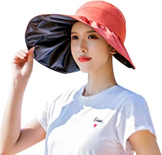 NW 1776 Sun Hat Summer Sunscreen Hat Uv Straw Hat Ladies Beach Hat Foldable Cover Face Sunscreen Black Rubber Hat