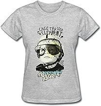 SAMMA Women's Cage the Elephant Design Cotton T Shirt