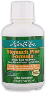 Aloe Life - Herbal Aloe Stomach Plus Formula, Fast Acting Herbal Tonic for Children (over 4 yrs) and Adults, Supports Heal...