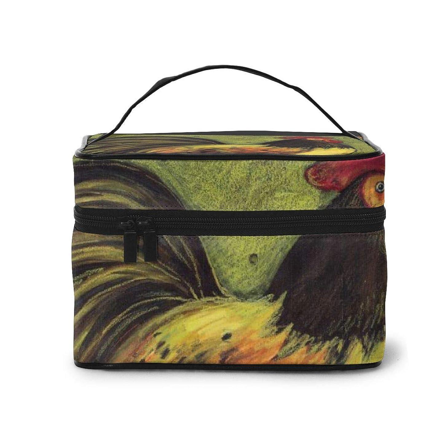 驚いたことにスポンサー統計的メイクポーチ 化粧ポーチ コスメバッグ バニティケース トラベルポーチ 鶏 ブラック 雑貨 小物入れ 出張用 超軽量 機能的 大容量 収納ボックス