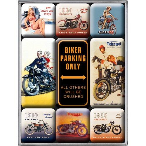 Nostalgic-Art 83018 beste garage - alleen fietsenstalling, magneetset (9st)