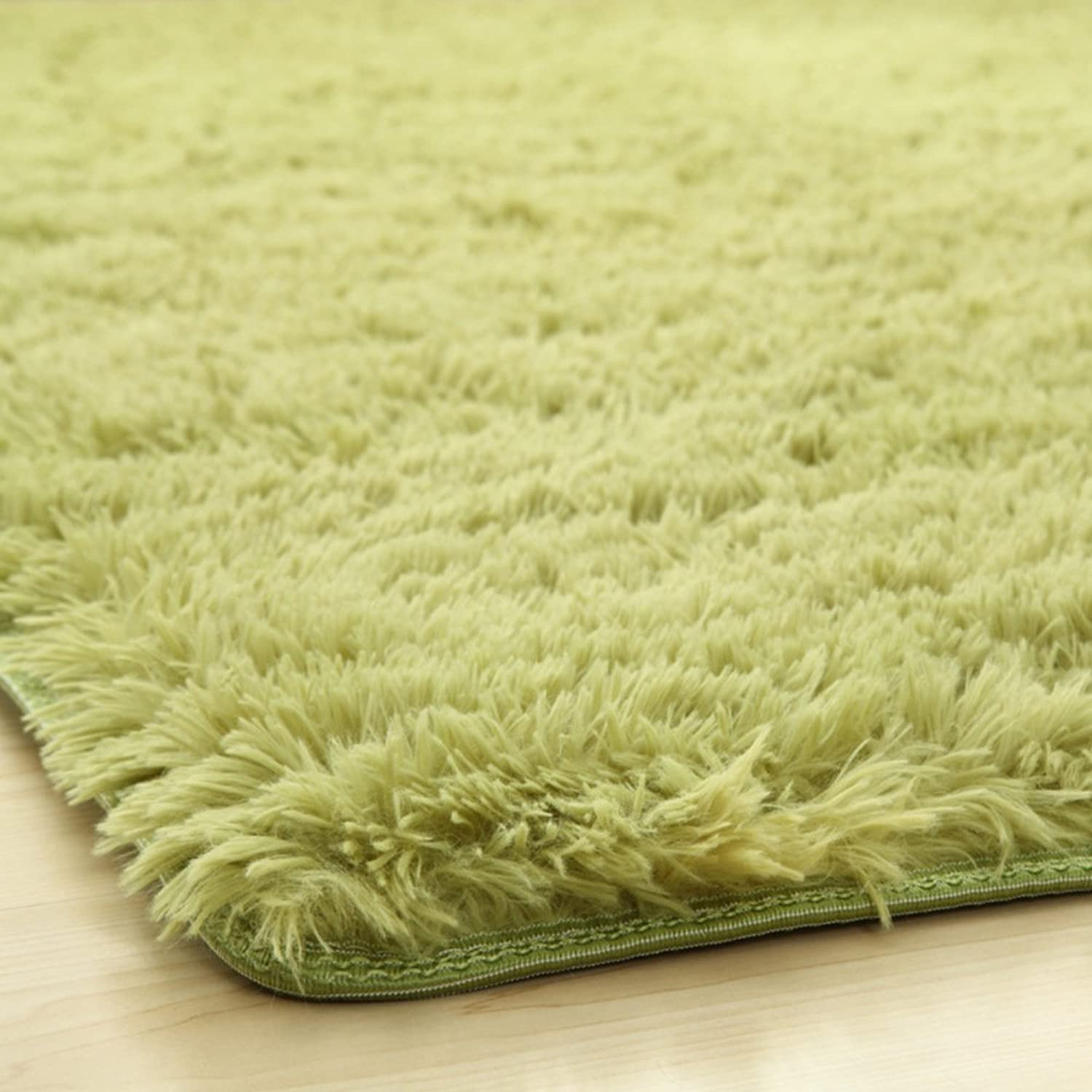Solid color plush mat Living room Bedroom mats Anti-skidding Fastness Don't drop the mat.-A 100x160cm(39x63inch)