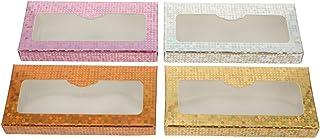 Lurrose 16Pcs Falso Eyealsh Caixa Caso Caixas De Armazenamento Caixas De Embalagens De Papel Vazio Cílios Cílios Lash Maqu...