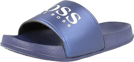 Hugo Boss Boys Navy Aqua Slides   Sandals
