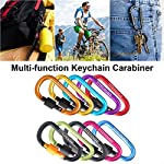 TITECOUGO Aluminum Alloy D-Ring High Strength Carabiner Key Chain Clip Hook For Camping Hiking (1,2,4,6 Pack and 11…