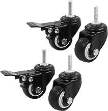 Gesh Winkelwiel Trolley Rem Swivel Caster, 1,5-inch, zwart, 4-delig