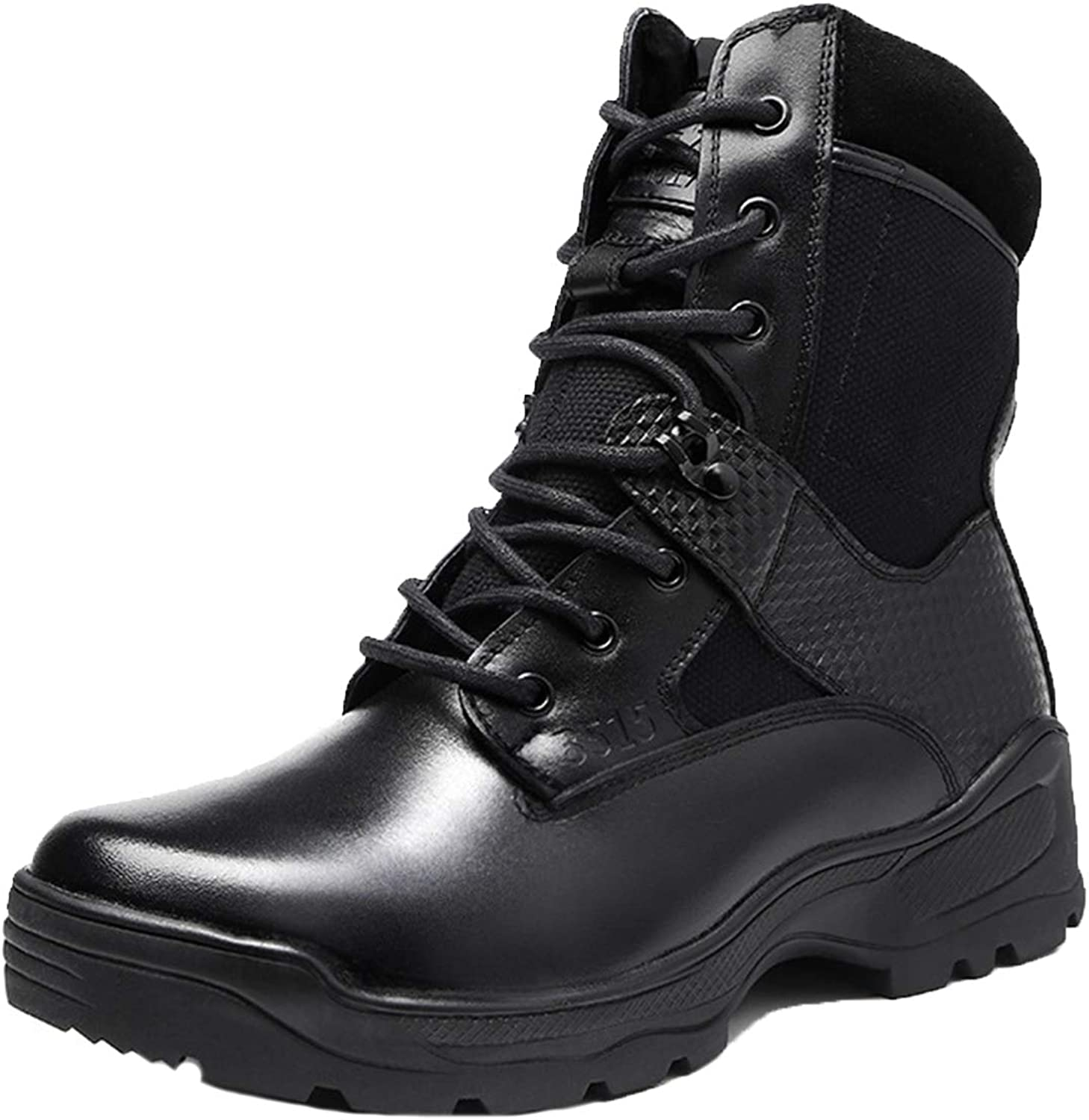 new product f3d9a c8ea6 HNGLXQ Combat Boots G-109 Leather Side Zip Zip Zip Army ...
