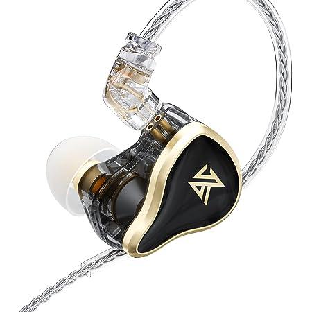 KZ ZASメタルヘッドセット7BAs + 1DDsハイブリッド16ドライバーHiFiベースイヤフォン(イヤーモニターヘッドホン)スポーツノイズキャンセリングイヤフォン(マイクなし、ブラック)
