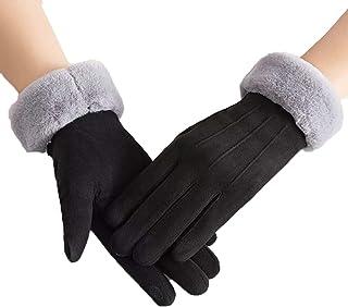 The Purple Tree Women's Faux Fur Winter Gloves