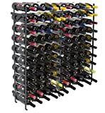 Sorbus Display Rack Large Capacity Wobble-Free Shelves Storage Stand for Bar, Basement, Wine Cellar, Kitchen, Dining Room, etc (Black), Height 40' - 100 Bottle