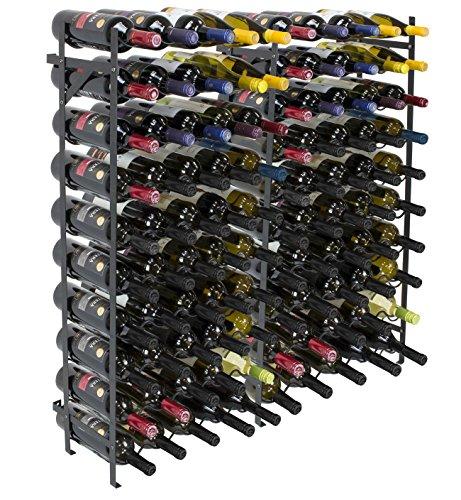 Sorbus Wine Rack Free Standing Floor Stand – Racks Hold 100 Bottles of Your Favorite Wine – Large Capacity Elegant Wine Storage for Any Bar, Wine Cellar, Kitchen, Dining Room, etc