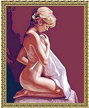 Mujer Desnuda Señora Figura Digital Diy Pintura Digital Digital Moderno Mural Pintura Al Óleo Regalo De Vacaciones De Navidad Decoración Del Hogar Tamaño Grande-40X50Cm-Sin Marco