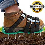 Dripex Lawn Aerator Spike Shoes -with 26 Spikes and 4 Adjustable Straps Heavy...