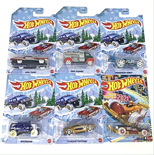 Hot Wheels 2019 Holiday Hot Rods Complete Set of 6