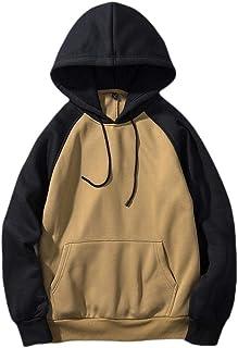 Mogogo Men's Hooded Solid Big Pockets Drawstring Skinny Jacket Sweatshirts