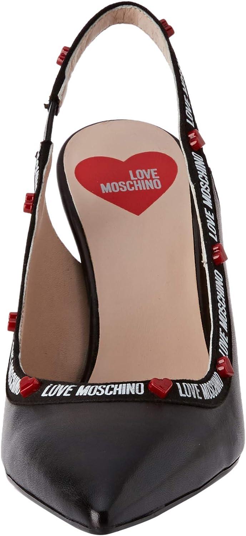 Love Moschino Womens Scarpad.spillo95 Nappa Closed Toe Heels