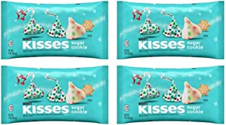 Hersheys Kisses Sugar Cookie Seasonal Chocolate Candy - Pack of 4 Bags - 9 oz Per Bag - 36 oz Total of Bulk Sugar Cookie K...