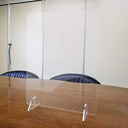 日本製 高透明度 アクリルパーテーション W350×H450mm 縦置き横置き可能 アクリルパネル 飛沫防止 パーティション 卓上 仕切