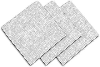 Soleil d'ocre Galaxy Serviette de Table, Polyester, Blanc, 45 x 45 cm