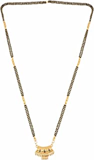 Efulgenz Indian Bollywood Antique Traditional Gold Plated Long Mangalsutra Pendant Necklace Set Jewelry for Women