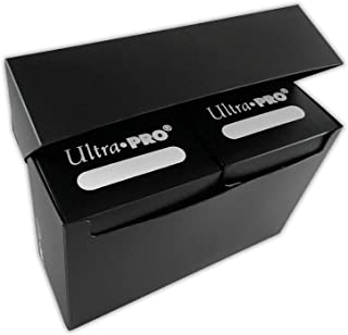 Ultra Pro 3-Compartment Over Sized Black Deck Box, Fits 2 Deck Boxes, 1-Count