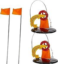 Lingge Duurzaam ijsvissen tip-up met oranje vlag, perfect kwaliteitsmateriaal, ABS-ijsvissen, accessoire voor ijsvissen, v...