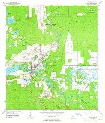 Florida Maps - 1954 Dunnellon, FL - USGS Historical Topographic Wall Art - 37in x 44in