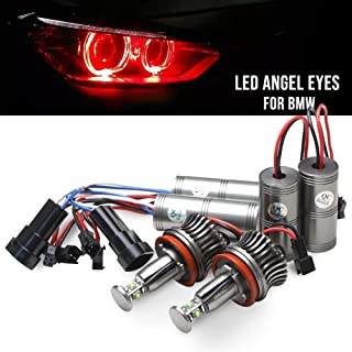 H8 Led Marker Angel Eyes - Nslumo H8 20w LED Cree Angel Eye Light Red for BMW E70 E87 E82 E90 E92 E93 M3 X5 X6 M6 BMW Headlights Super Bright Red Angel Eyes Lamps