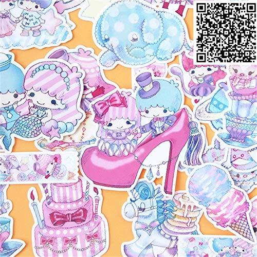 KATTERS Nuevas Mini Pegatinas de Moda Juguete para DIY Cuaderno de Ejercicios Diario 26 Hojas un Paquete de Juguetes para niños Pegatina de Juguete Colorido