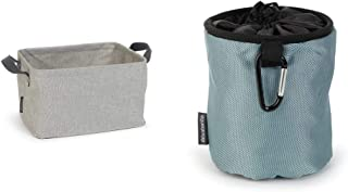 Brabantia 105685 Panier à linge pliable, Grey, Autre, Gris, 30 x 20 x 10 cm & 105784 Premium Sac pour Pinces à Linge Noir/...