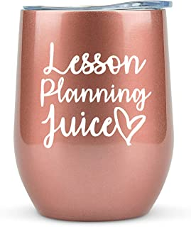 """Sponsored Ad - Teacher Gifts for Women - """"Lesson Planning Juice"""" Tumbler/Mug with Lid for Wine, Coffee - Funny Gifts for T..."""
