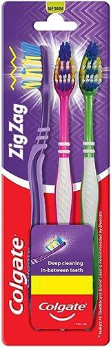 Colgate Zigzag Toothbrush Medium Buy 2 Get 1