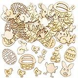 Mini Sagome Pasquali in Legno Baker Ross (confezione da 45)- Articoli creativi di arte e artigianato pasquale per i bambini da realizzare e decorare