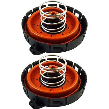 Rugged Auto Parts Set of 2 Crankcase Vent Valve PCV Pressure Regulating Valve for BMW 11127547058 14506018001