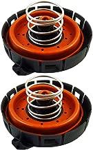 Dade Set of 2 Crankcase Vent Valve PCV Pressure Regulating Valve Fit for BMW 11127547058 14506018001