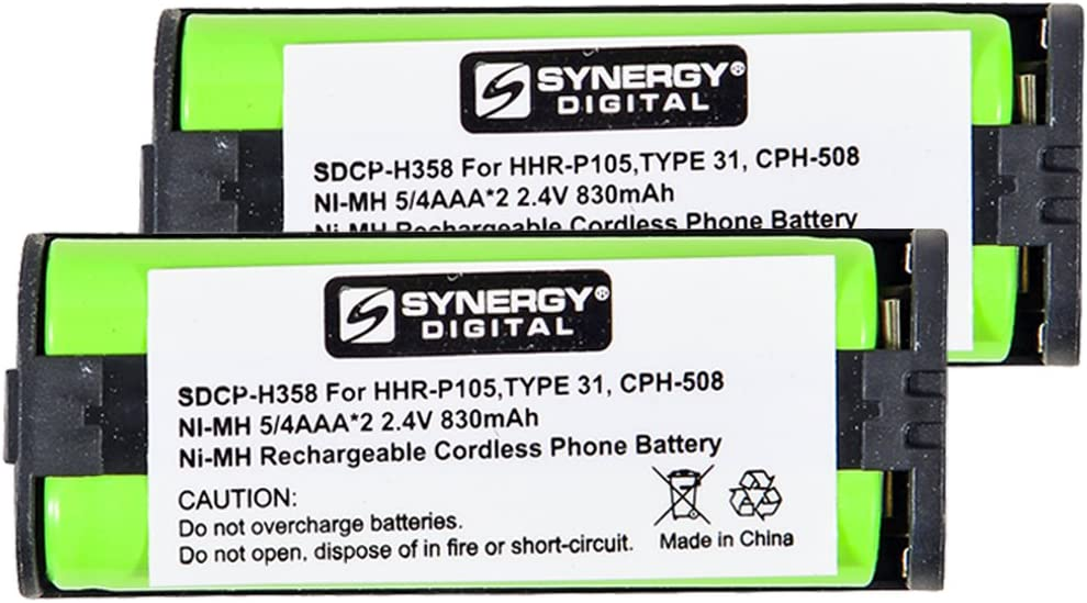 Sale SALE% OFF Fresno Mall Panasonic KX-2622 Cordless Phone Battery Includes: 2 Combo-Pack