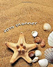 2019 Planner: January - December with Weekly, Monthly, & Yearly Pages (Tropical Beach, Sand & Seashells Design)