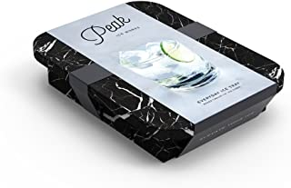 W&P WP-ICE-ED-MB Peak Ice Works Everyday Silicone Ice Tray, BPA Free, Dishwasher Safe, Marble Black