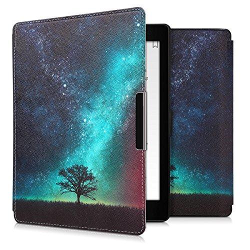 kwmobile Carcasa Compatible con Kobo Aura One - Funda para Libro electrónico con Solapa - árbol y Estrellas