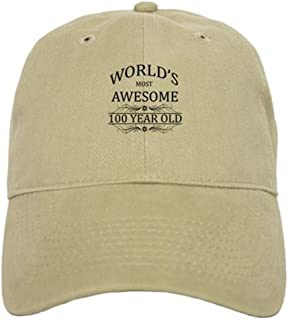 CafePress World's Most Awesome 100 Year Old Cap Baseball Cap