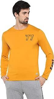 Alan Jones Men's Cotton Full Sleeves Badge T-Shirt