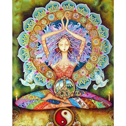 TWYYDP Puzzle De Madera Adulto 1000 Piezas Yoga Girl, Mandala, Yin Y Yang Niños O Amigos